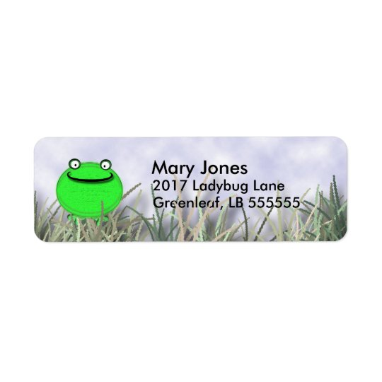Smiling Frog Return Address Label