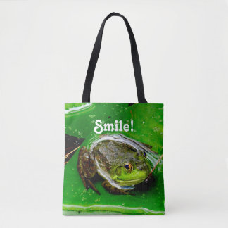 Smiling Frog Tote Bag