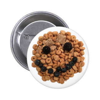 Smiling Fruit and Cereal 6 Cm Round Badge