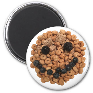 Smiling Fruit and Cereal 6 Cm Round Magnet