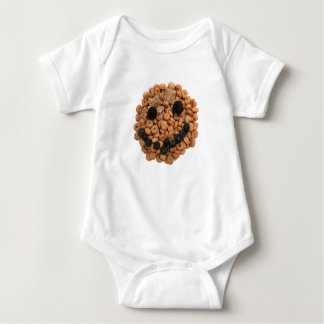 Smiling Fruit and Cereal Baby Bodysuit