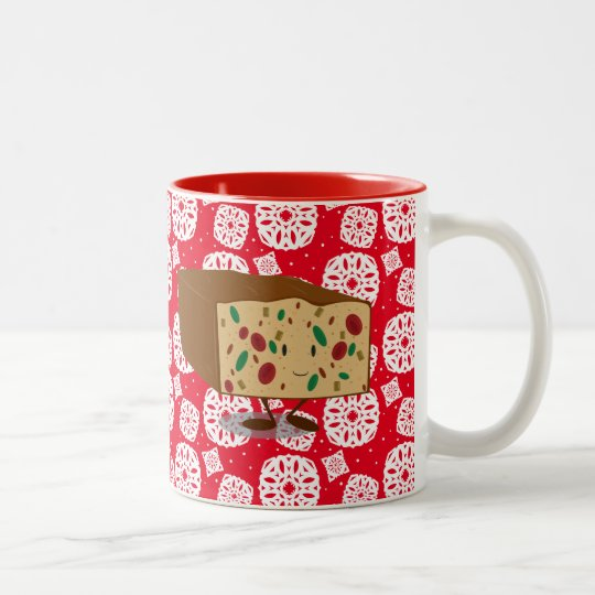 Smiling Fruitcake Two-Tone Coffee Mug