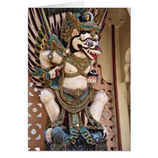 Smiling Garuda Statue Greeting Cards