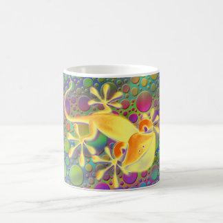 Smiling Gecko - coloured dots Basic White Mug