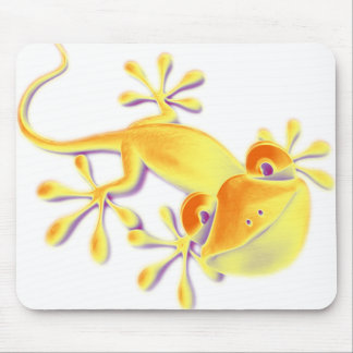 Smiling Gecko make your own background Mouse Pads