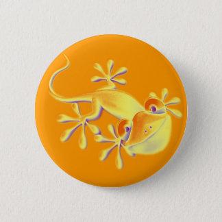 Smiling Gecko - orange 6 Cm Round Badge
