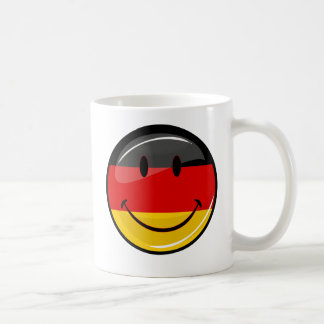 Smiling German Flag Basic White Mug