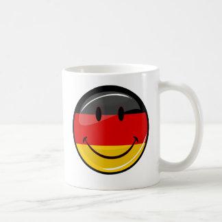 Smiling German Flag Classic White Coffee Mug