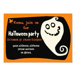"Smiling ghost invitation card 5"" x 7"" invitation card"