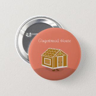 Smiling Gingerbread House cartoon | Button