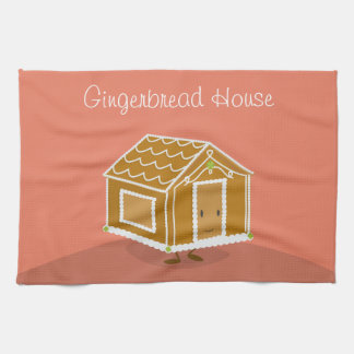 Smiling Gingerbread House | Kitchen Towel