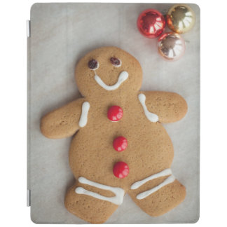 Smiling gingerbread man iPad cover