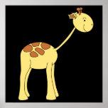 Smiling Giraffe. Cartoon. Poster
