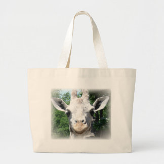 smiling giraffe large tote bag