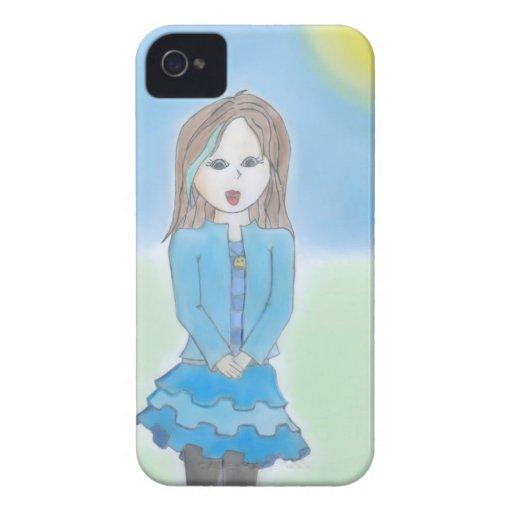 Smiling Girl Case iPhone 4 Case-Mate Case