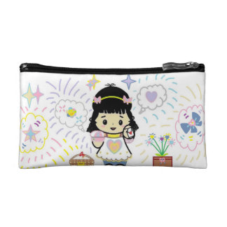 Smiling Girl Cosmetic Bag
