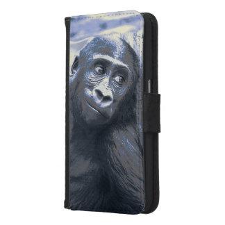smiling gorilla baby blue