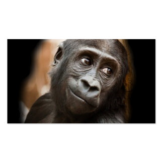 smiling gorilla baby business card