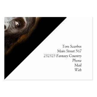 smiling gorilla baby business card templates