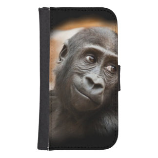 smiling gorilla baby phone wallet cases