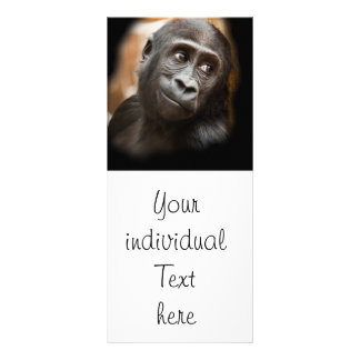 smiling gorilla baby rack card template