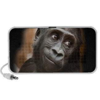 Smiling Gorilla Baby Portable Speakers