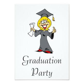 Smiling Graduate Girl 13 Cm X 18 Cm Invitation Card