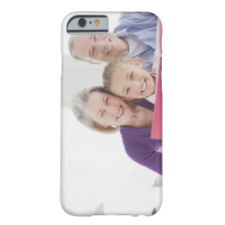 Smiling grandparents reading cookbook with barely there iPhone 6 case