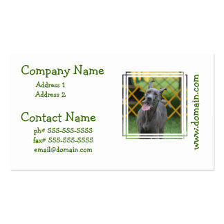 Smiling Great Dane Double-Sided Standard Business Cards (Pack Of 100)