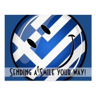 Smiling Greek Flag Postcard