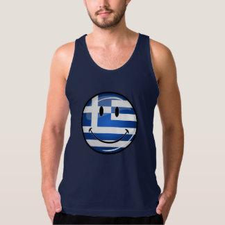 Smiling Greek Flag Tank Top