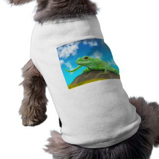 Smiling Green Lizard on a Beautiful Bright Day Sleeveless Dog Shirt