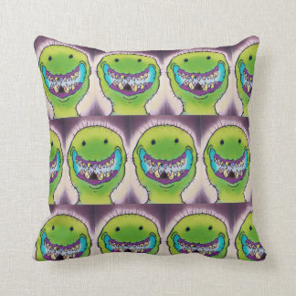 Smiling Green Monster Cushion
