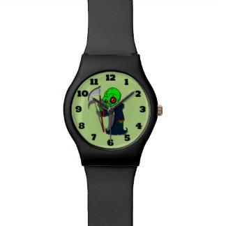 Smiling Grim Reaper Illustration Creepy Cool Watch