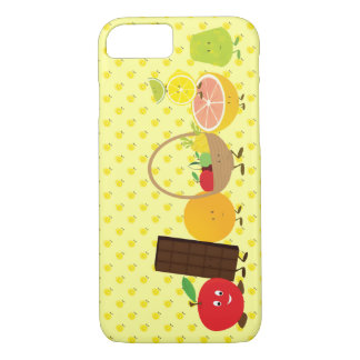 Smiling group of food characters iPhone 7 case