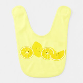 Smiling group of lemons bib