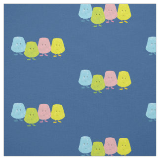 Smiling gumdrops fabric