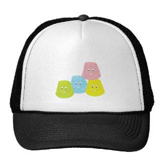 Smiling gumdrops trucker hats