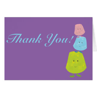 Smiling gumdrops thank you card