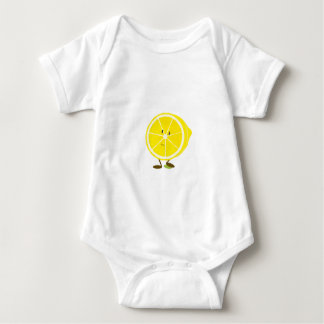 Smiling half lemon character baby bodysuit