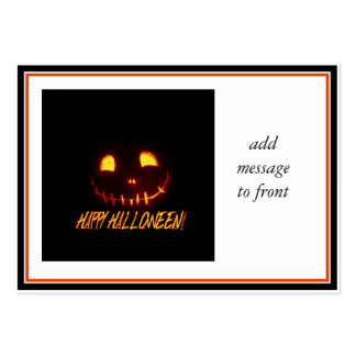 Smiling Halloween Jack-o-Lantern Pack Of Chubby Business Cards