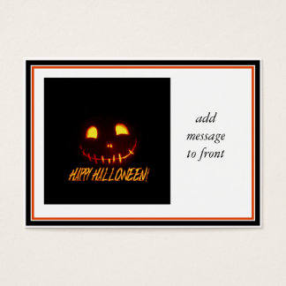 Smiling Halloween Jack-o-Lantern Business Card