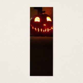 Smiling Halloween Jack-o-Lantern Mini Business Card