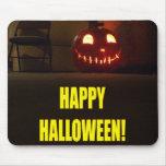 Smiling Halloween Jack-o-Lantern Mouse Pads