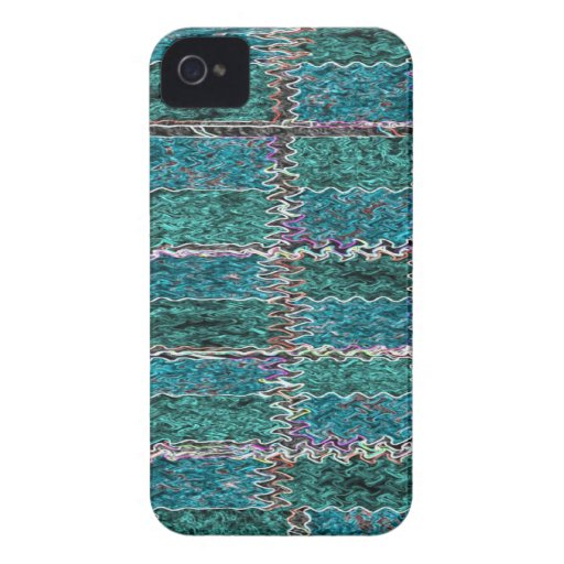Smiling Happy Blue Sparkle Case-Mate iPhone 4 Case