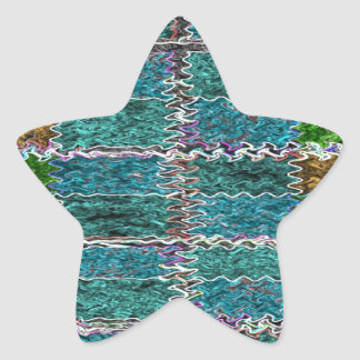 Smiling Happy Blue Sparkle Star Sticker
