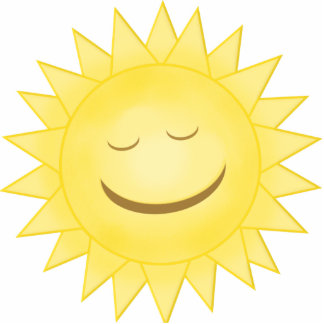 Smiling Happy Sunshine Photo Cutout
