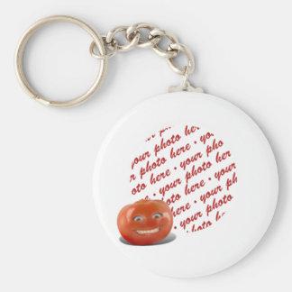 Smiling Happy Tomato Photo Frame Key Ring