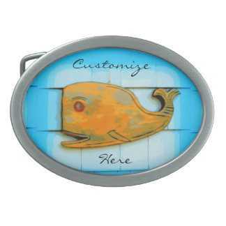 smiling happy whale Thunder_Cove Belt Buckle