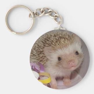 smiling hedgie key ring